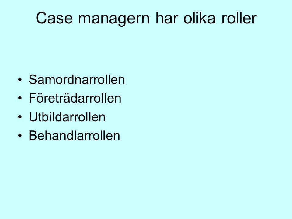 Case managern har olika roller