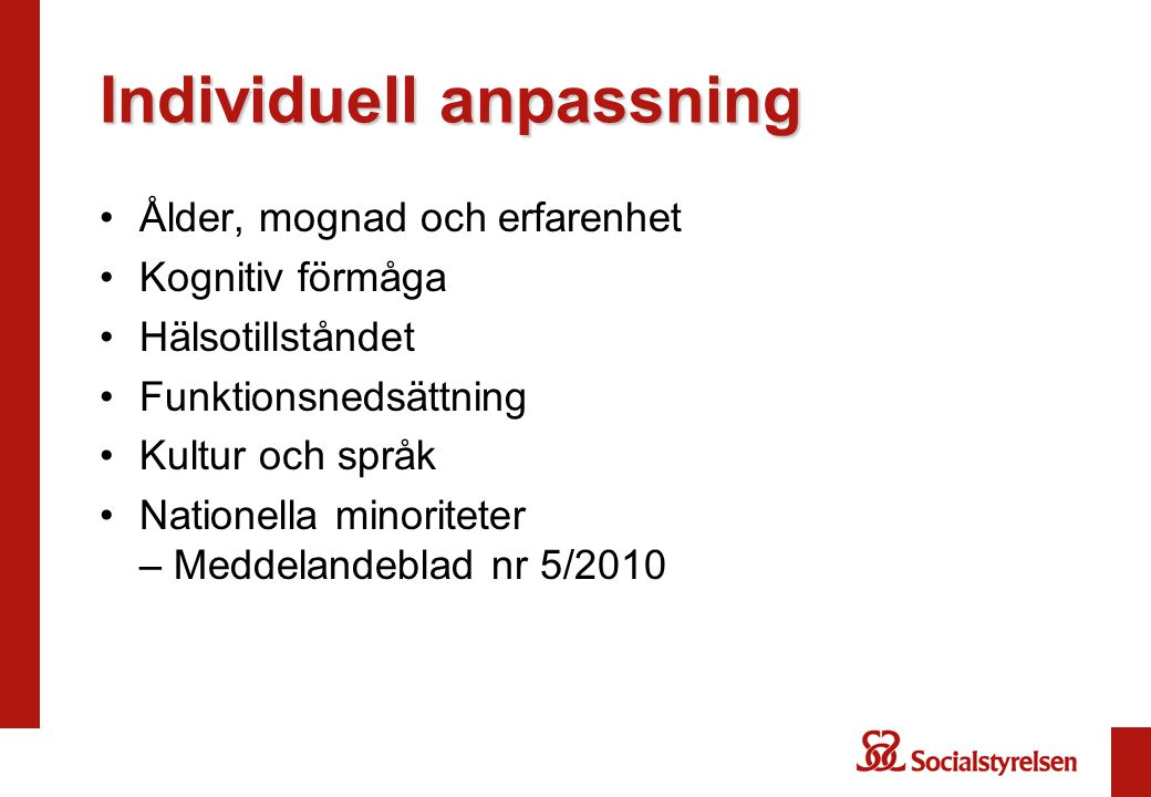 Individuell anpassning