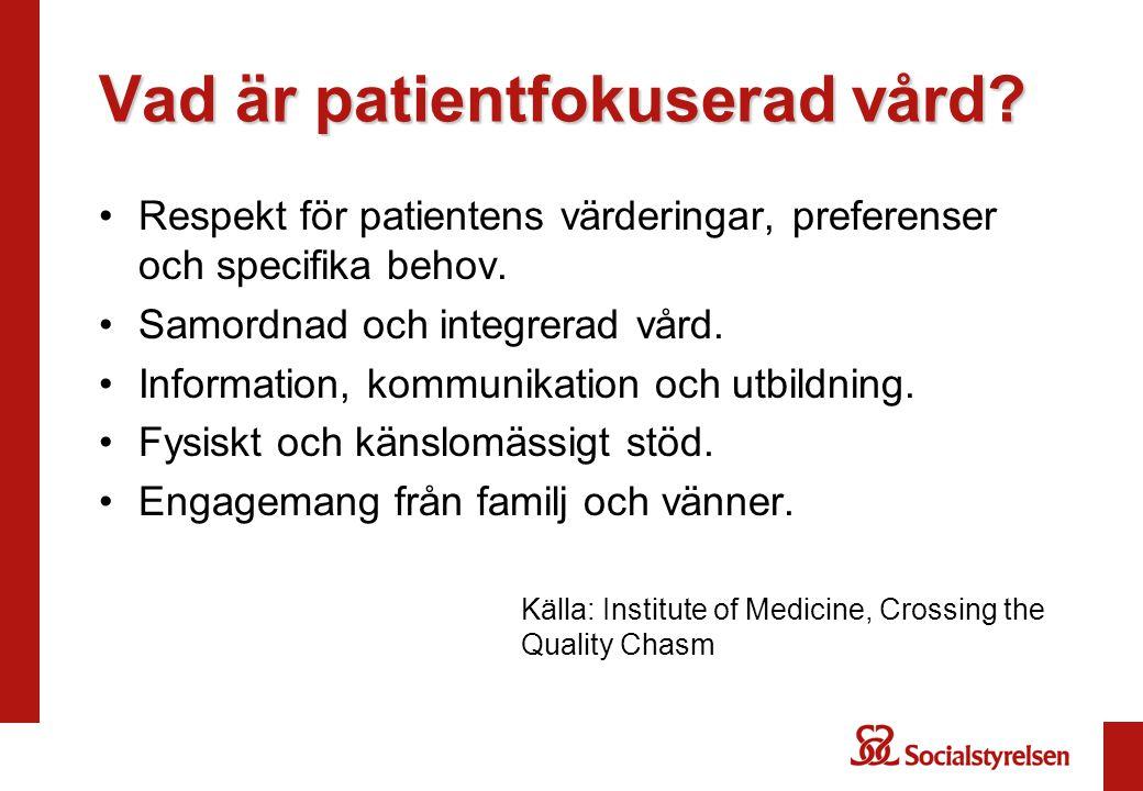 Vad är patientfokuserad vård