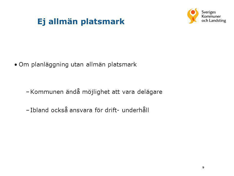 Ej allmän platsmark Om planläggning utan allmän platsmark
