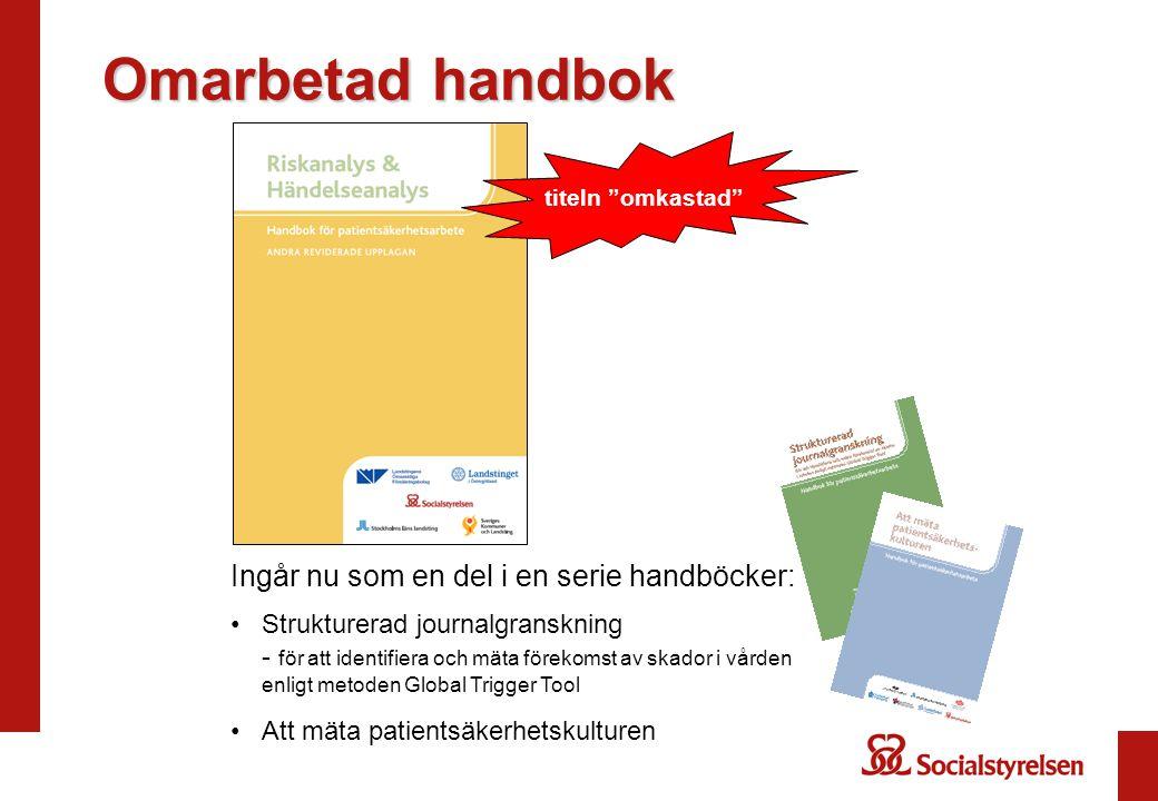 Omarbetad handbok Ingår nu som en del i en serie handböcker: