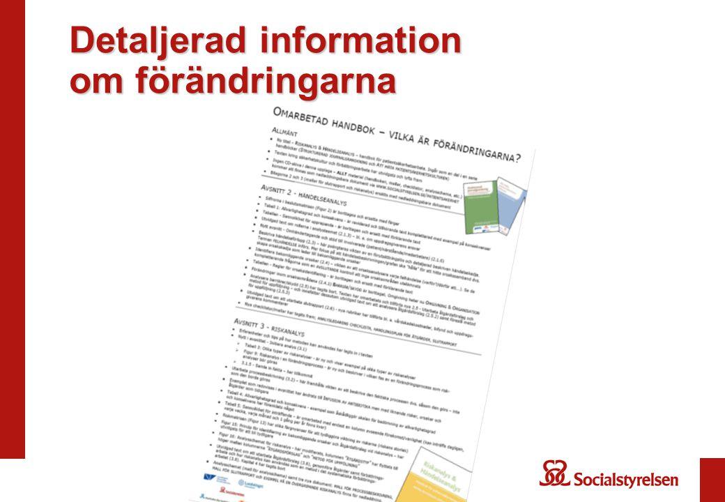 Detaljerad information om förändringarna
