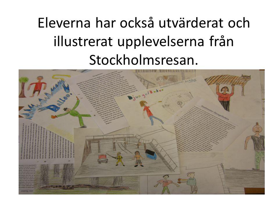 Eleverna har också utvärderat och illustrerat upplevelserna från Stockholmsresan.