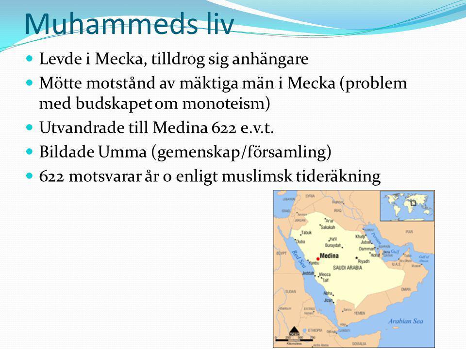 Muhammeds liv Levde i Mecka, tilldrog sig anhängare