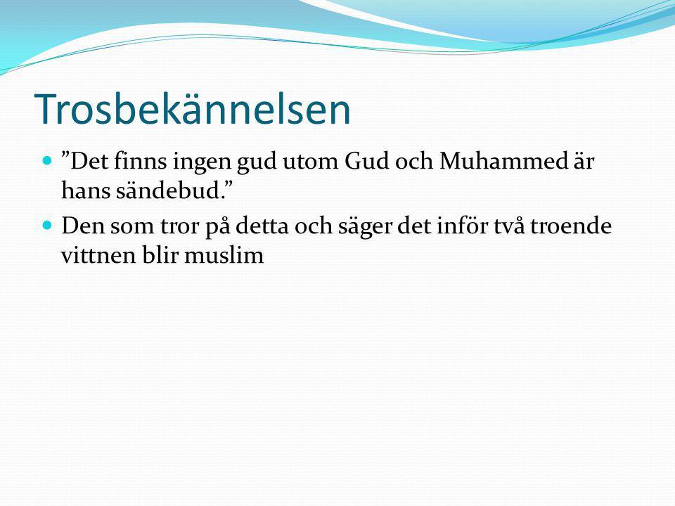 Trosbekännelsen Det finns ingen gud utom Gud och Muhammed är hans sändebud.