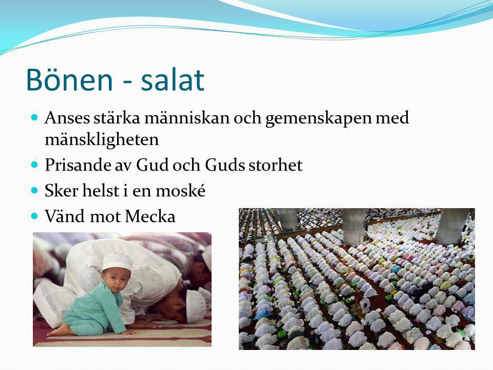 Bönen - salat Anses stärka människan och gemenskapen med mänskligheten
