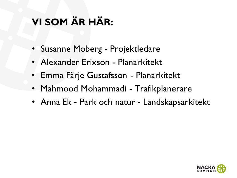 VI SOM ÄR HÄR: Susanne Moberg - Projektledare