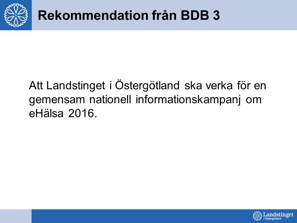 Rekommendation från BDB 3