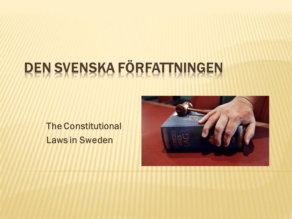 Den svenska författningen