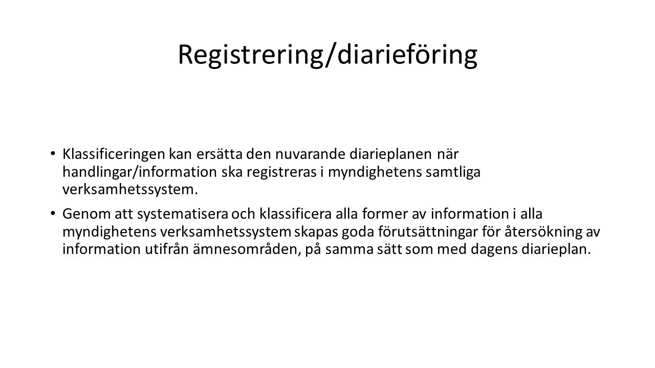 Registrering/diarieföring