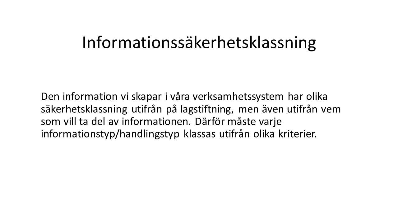 Informationssäkerhetsklassning