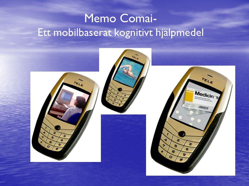 Memo Comai- Ett mobilbaserat kognitivt hjälpmedel