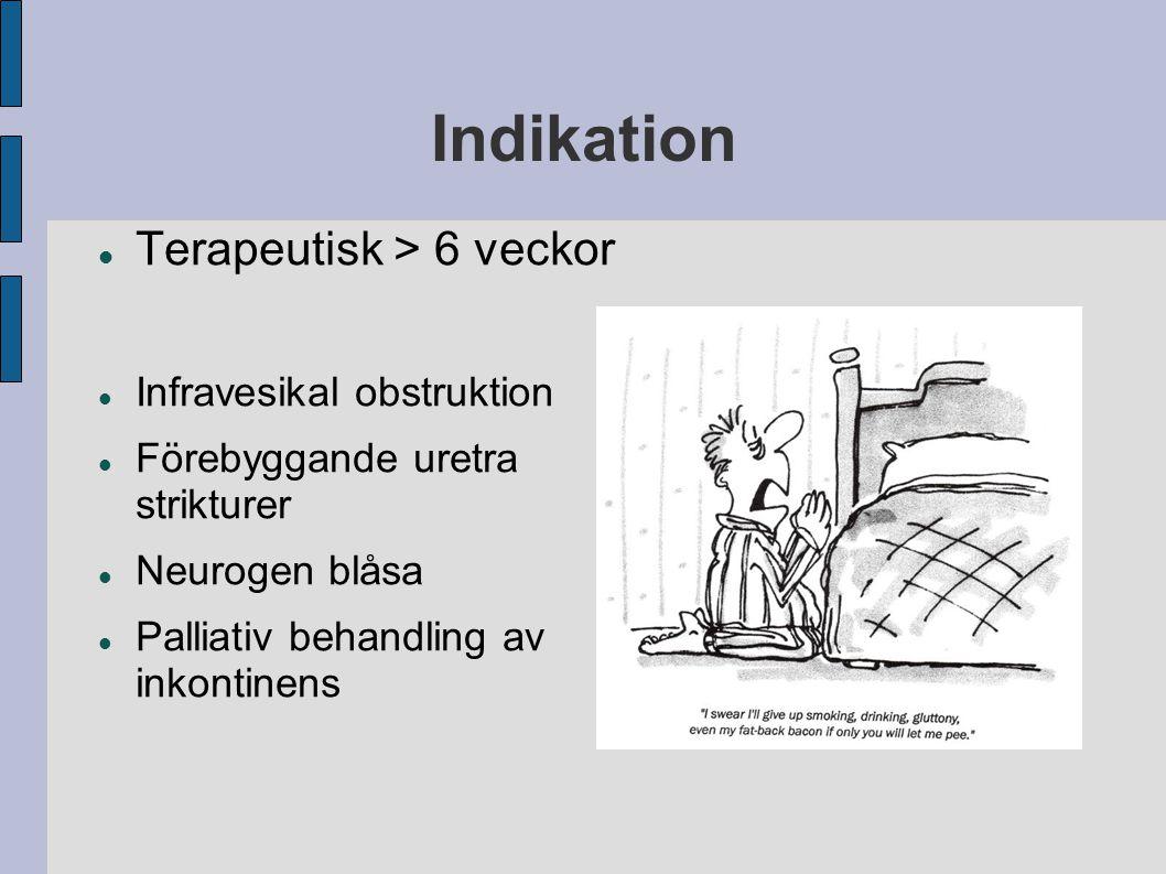 Indikation Terapeutisk > 6 veckor Infravesikal obstruktion