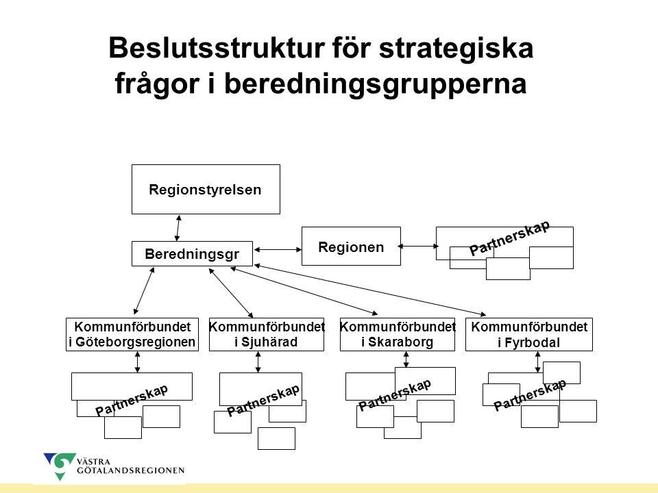 Beslutsstruktur för strategiska frågor i beredningsgrupperna