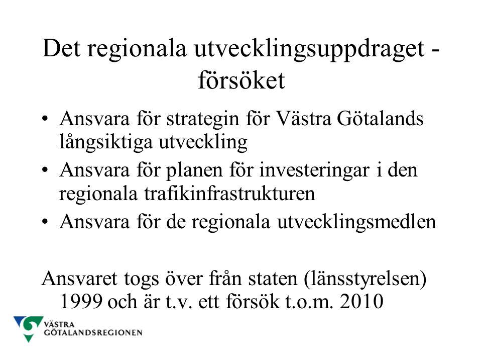 Det regionala utvecklingsuppdraget - försöket