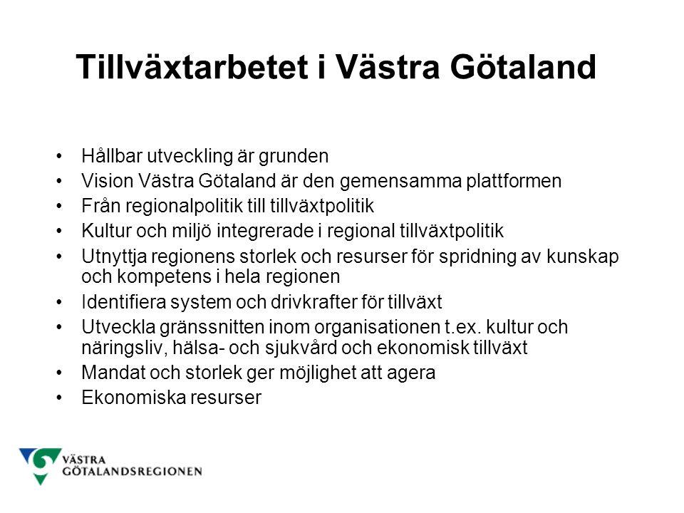 Tillväxtarbetet i Västra Götaland