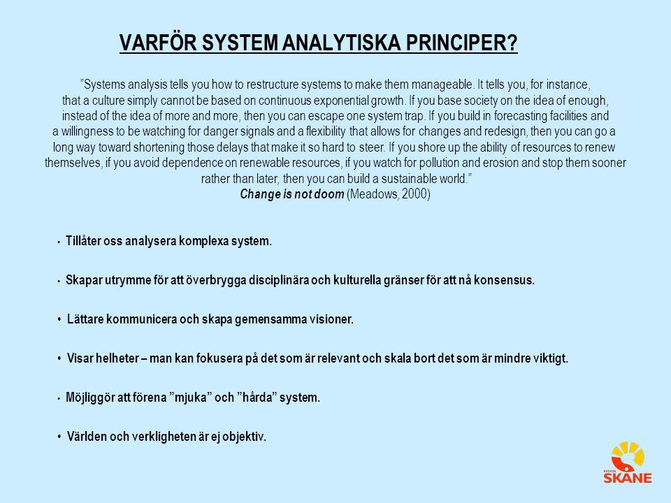 VARFÖR SYSTEM ANALYTISKA PRINCIPER
