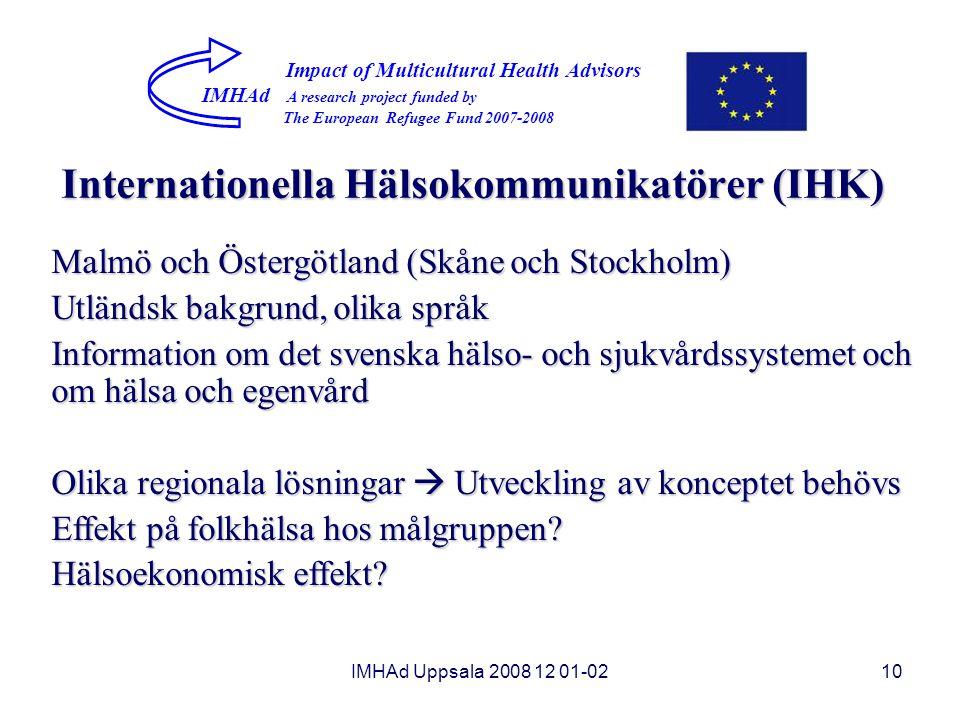 Internationella Hälsokommunikatörer (IHK)