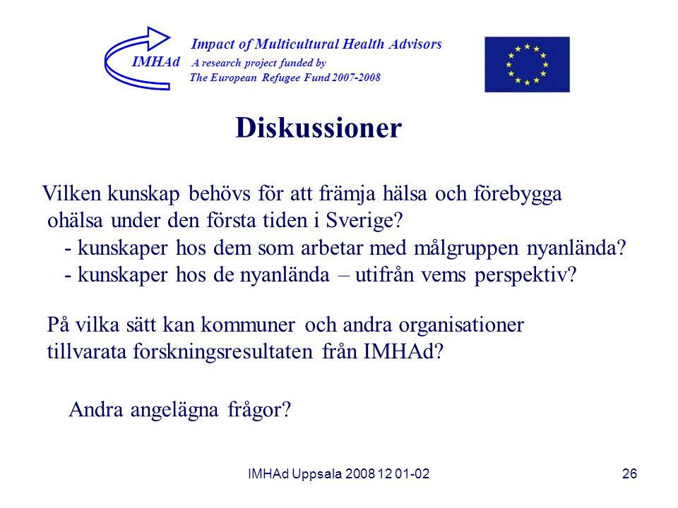 Diskussioner Vilken kunskap behövs för att främja hälsa och förebygga