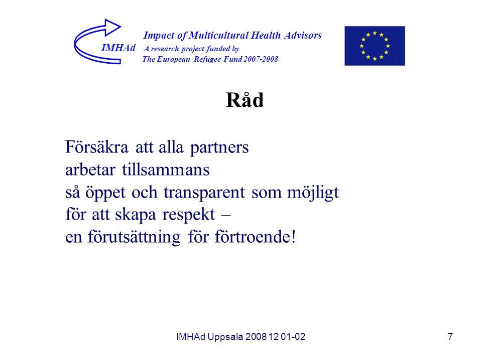 Råd Försäkra att alla partners arbetar tillsammans