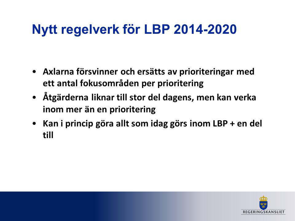 Nytt regelverk för LBP 2014-2020