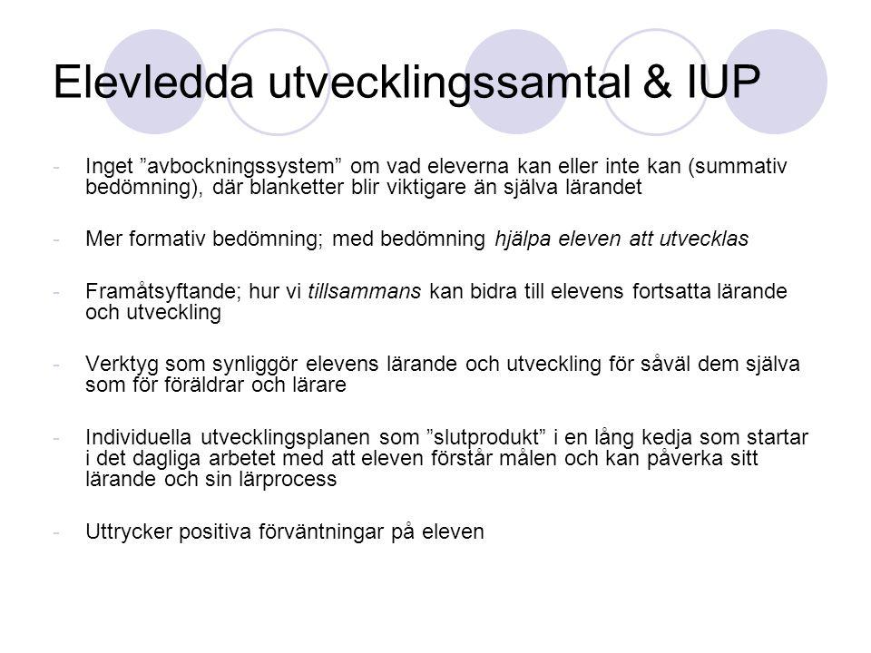 Elevledda utvecklingssamtal & IUP