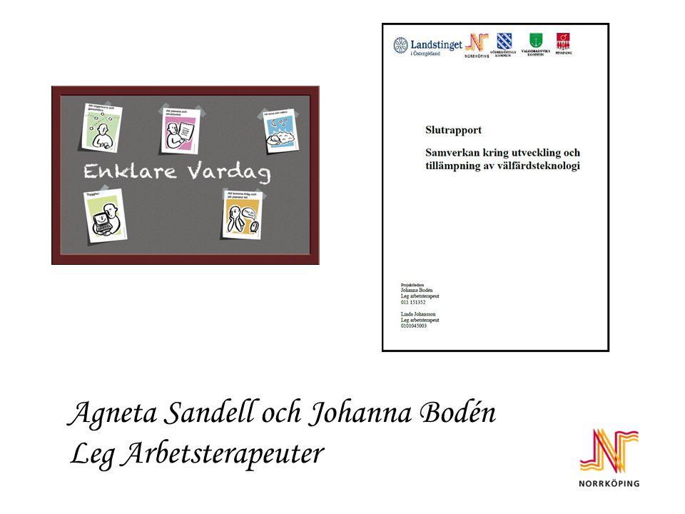 Agneta Sandell och Johanna Bodén