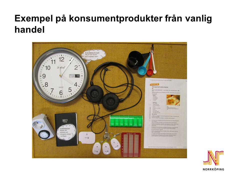 Exempel på konsumentprodukter från vanlig handel