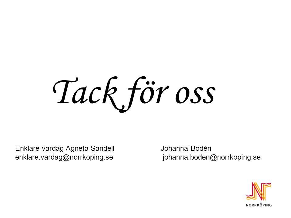 Tack för oss Enklare vardag Agneta Sandell Johanna Bodén