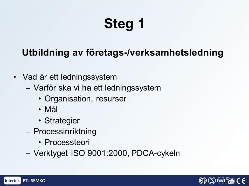 Utbildning av företags-/verksamhetsledning