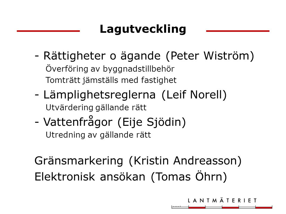 - Rättigheter o ägande (Peter Wiström)