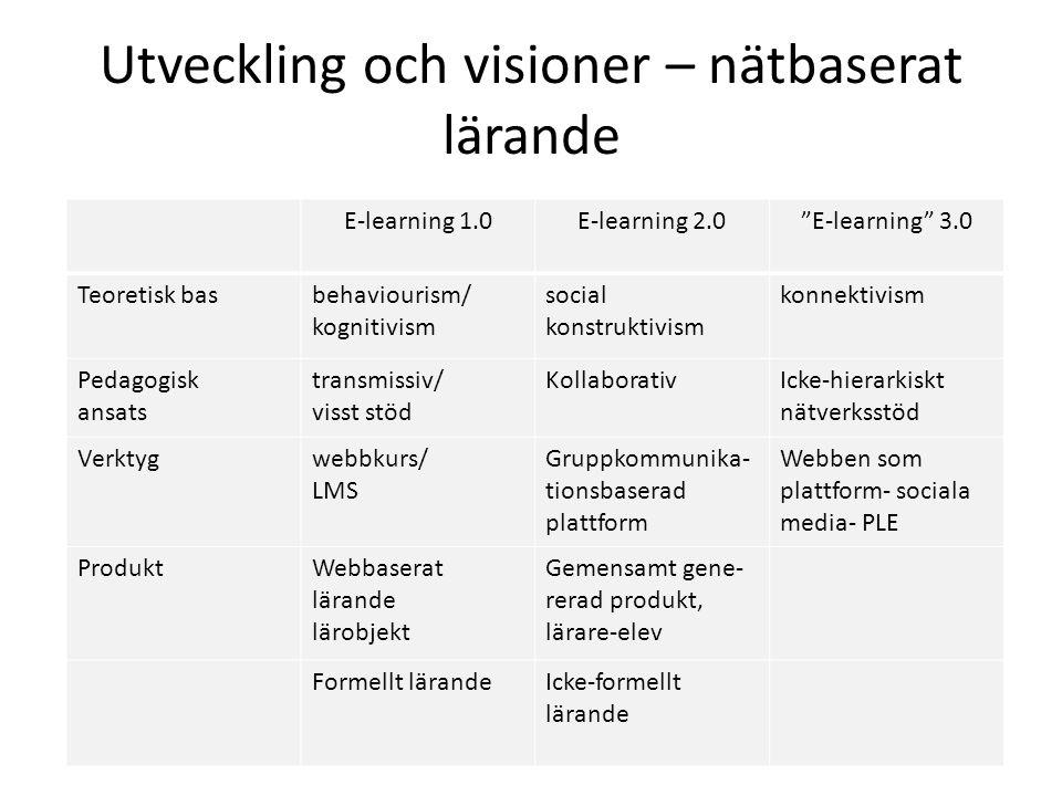 Utveckling och visioner – nätbaserat lärande