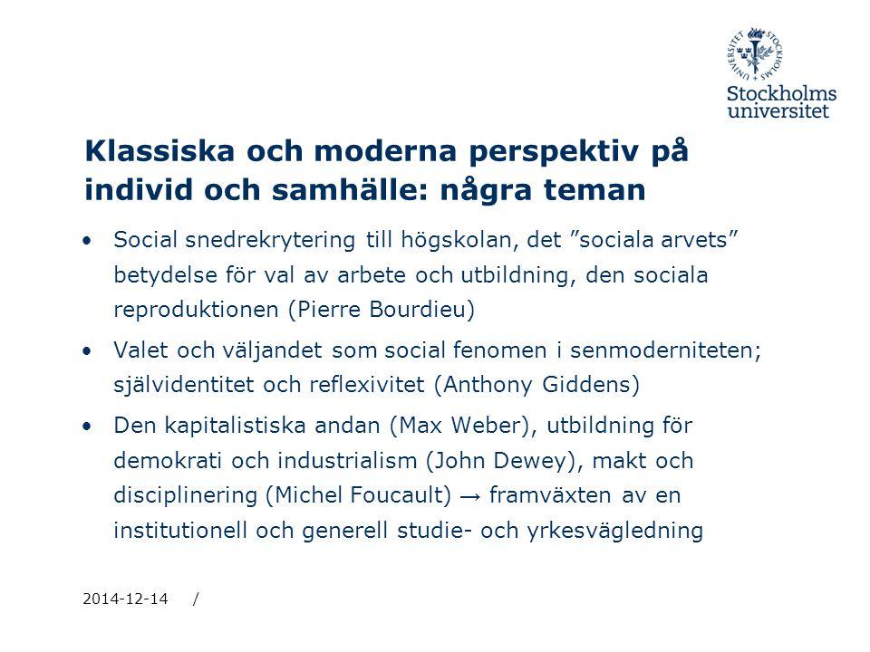 Klassiska och moderna perspektiv på individ och samhälle: några teman