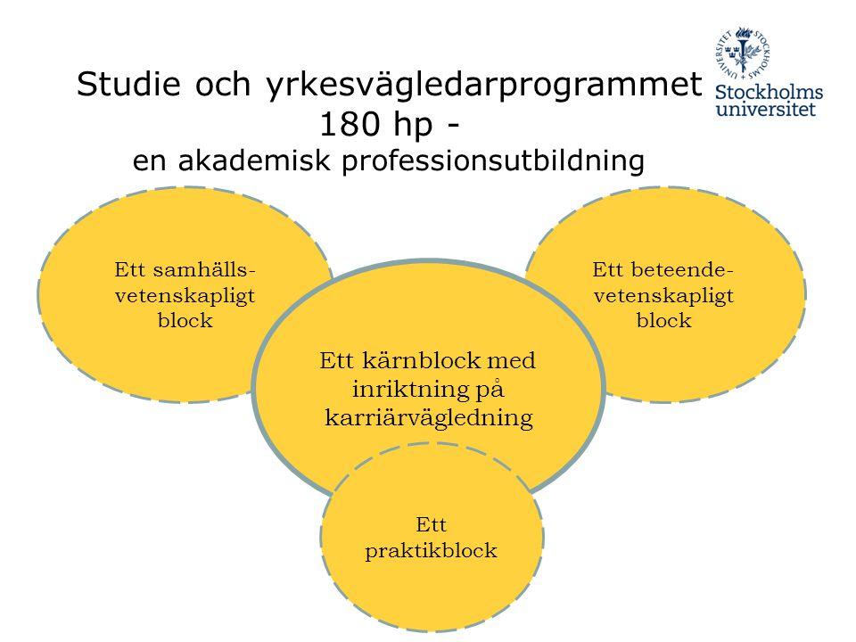 Studie och yrkesvägledarprogrammet 180 hp -