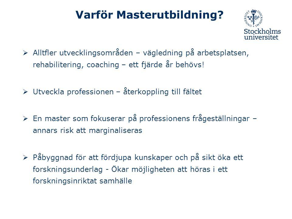 Varför Masterutbildning
