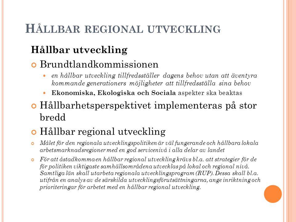 Hållbar regional utveckling