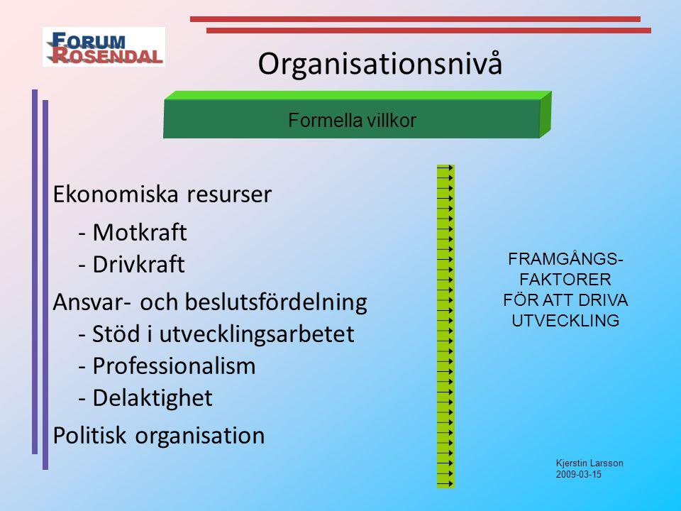 FRAMGÅNGS- FAKTORER FÖR ATT DRIVA UTVECKLING