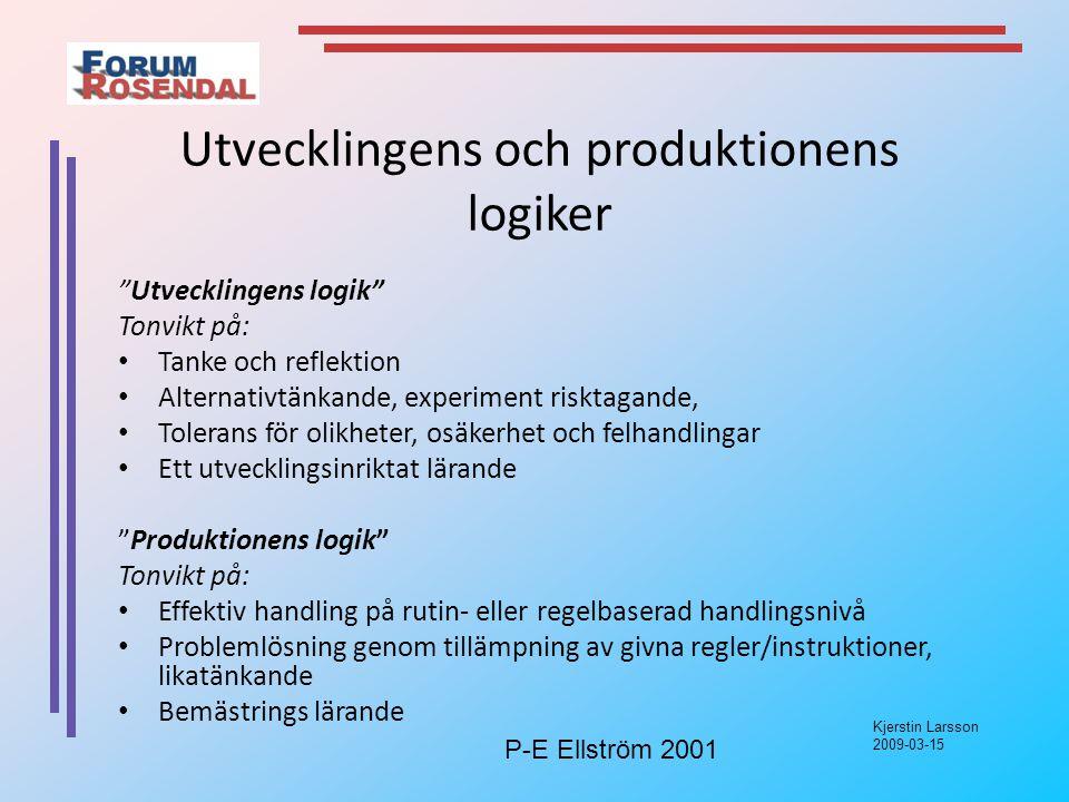 Utvecklingens och produktionens logiker