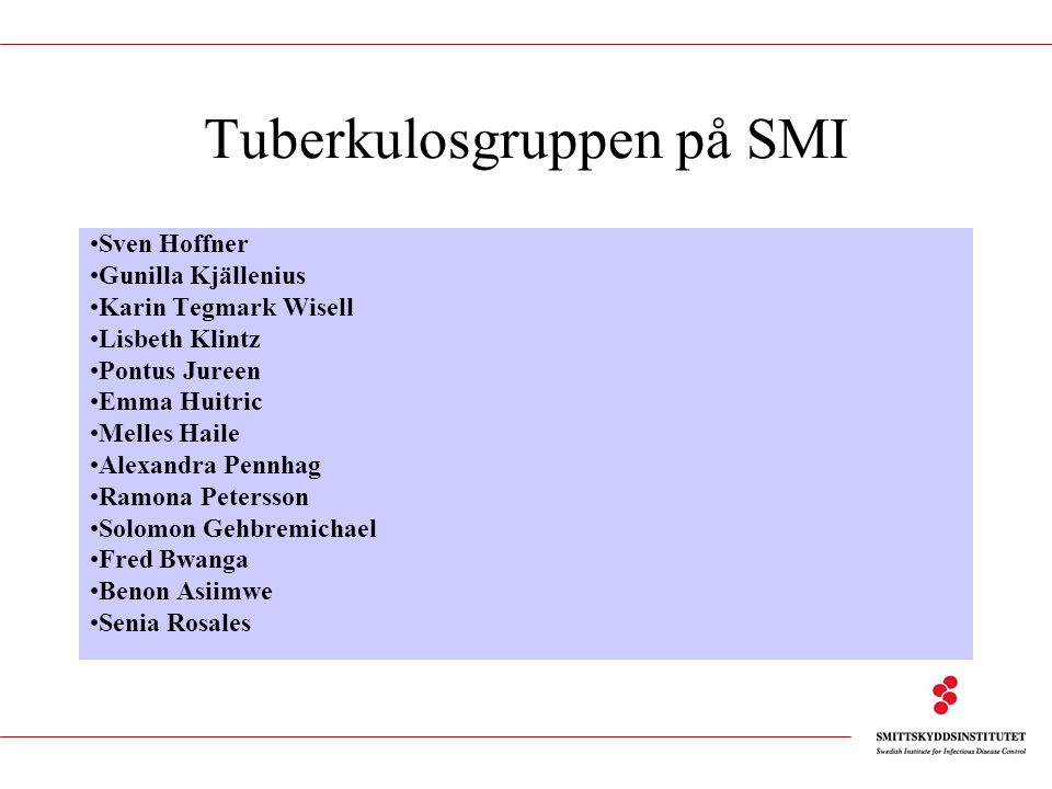 Tuberkulosgruppen på SMI