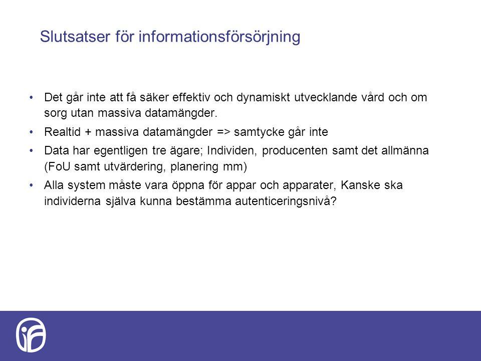 Slutsatser för informationsförsörjning