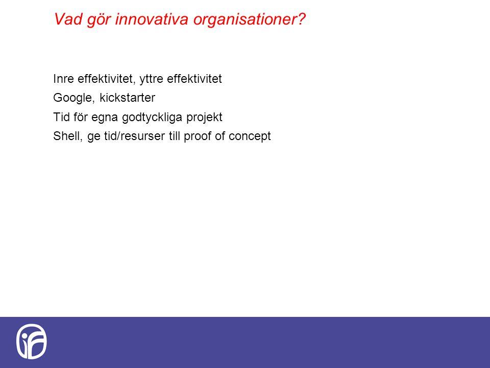 Vad gör innovativa organisationer