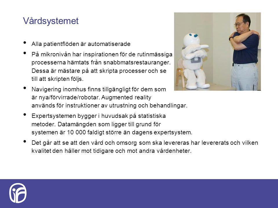 Vårdsystemet Alla patientflöden är automatiserade