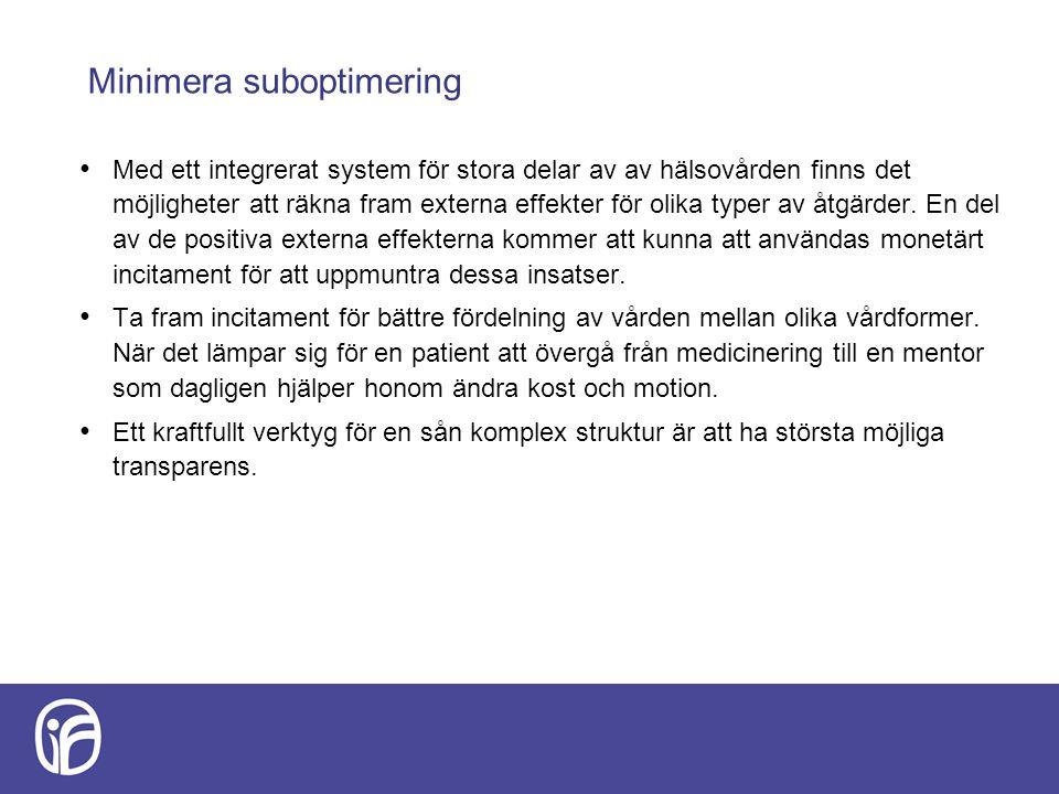 Minimera suboptimering