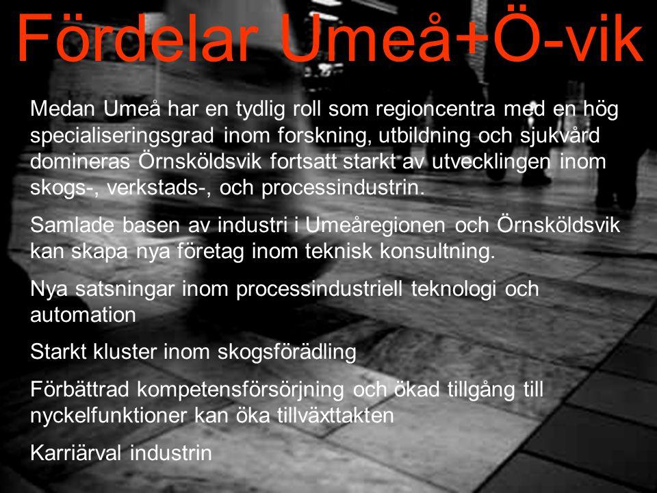 Fördelar Umeå+Ö-vik