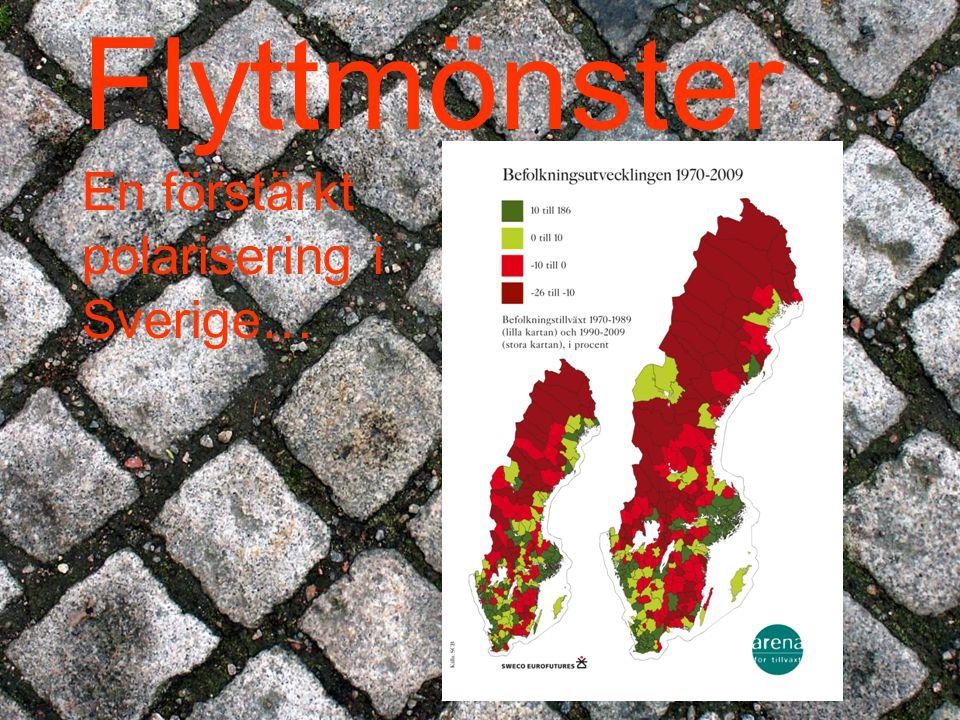 Flyttmönster En förstärkt polarisering i Sverige…