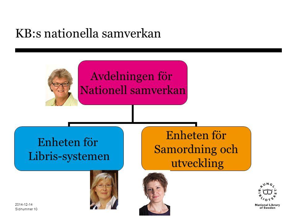 KB:s nationella samverkan