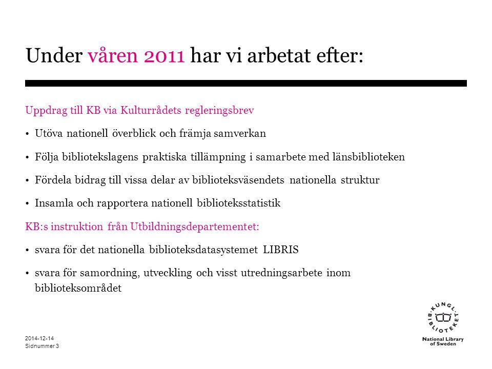 Under våren 2011 har vi arbetat efter: