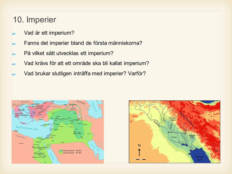 10. Imperier Vad är ett imperium