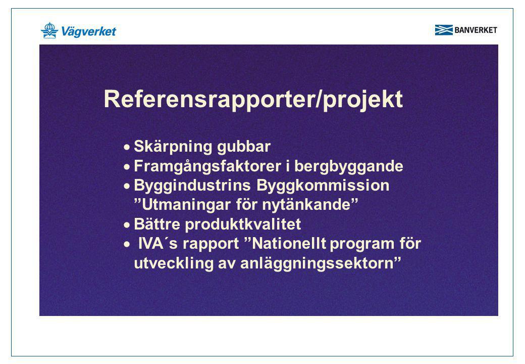 Referensrapporter/projekt