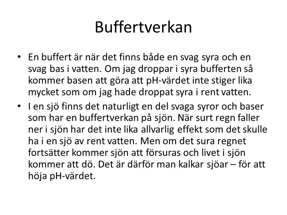Buffertverkan